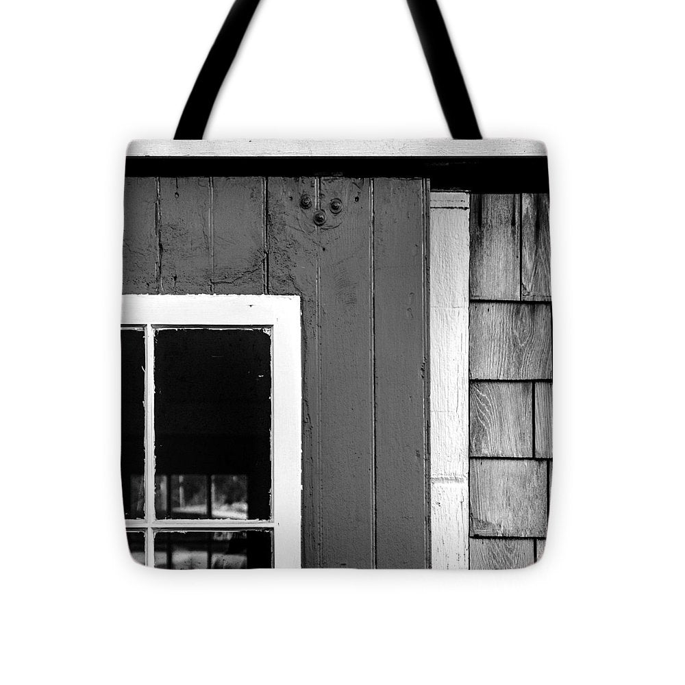 Old Door In Black And White - Tote Bag