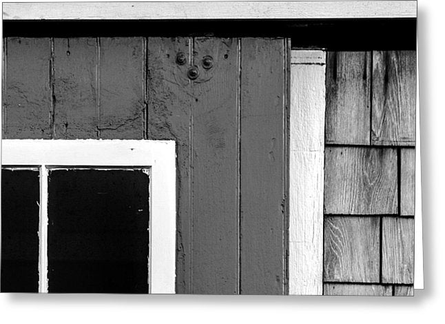 Old Door In Black And White - Greeting Card