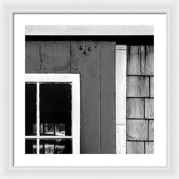Old Door In Black And White - Framed Print