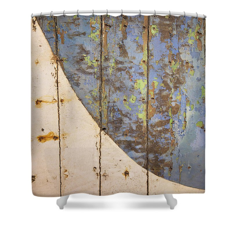 Old Wooden Boat Bottom - Shower Curtain