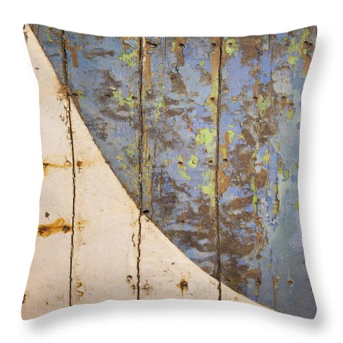 Old Wooden Boat Bottom - Throw Pillow