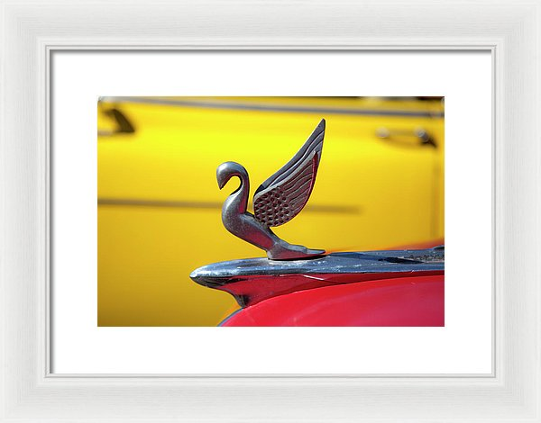 Oldsmobile Packard Hood Ornament Havana Cuba - Framed Print
