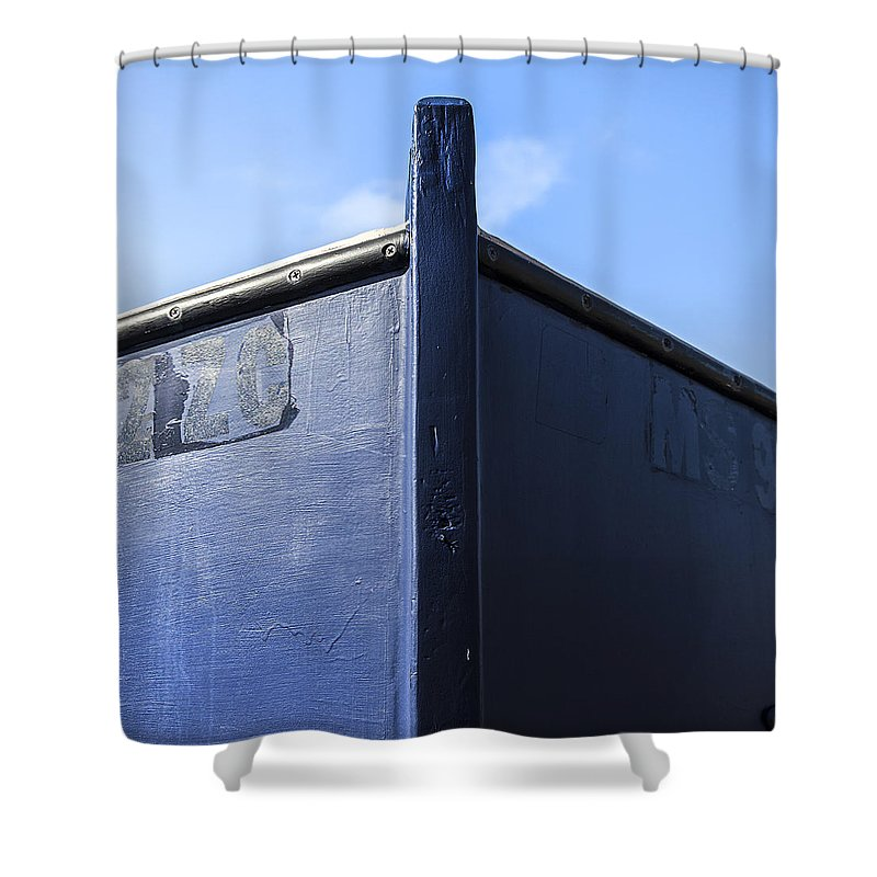 Painted Boat Bow - Shower Curtain