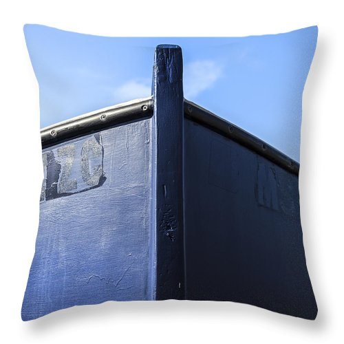 Painted Boat Bow - Throw Pillow
