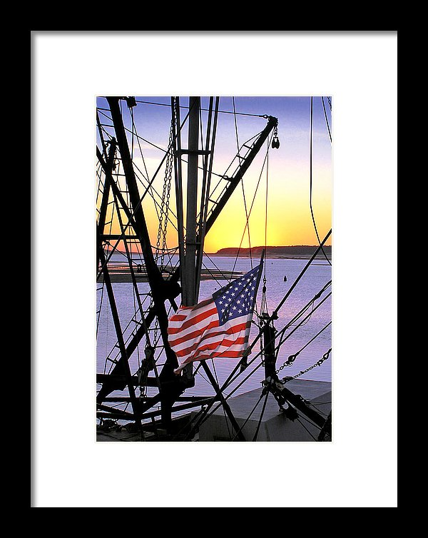 Patriotic Fisherman - Framed Print