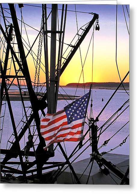 Patriotic Fisherman - Greeting Card