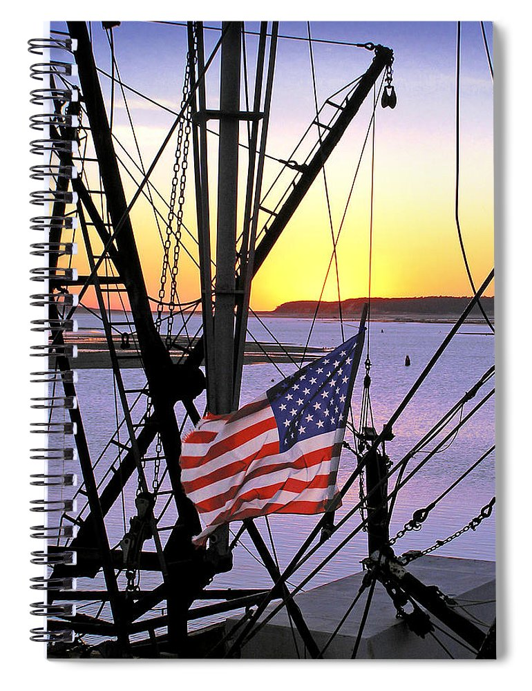 Patriotic Fisherman - Spiral Notebook