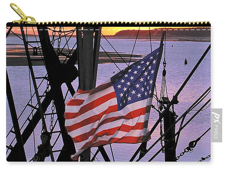 Patriotic Fisherman - Carry-All Pouch
