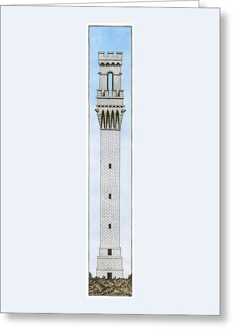 Provincetown Pilgrim Monument - Greeting Card