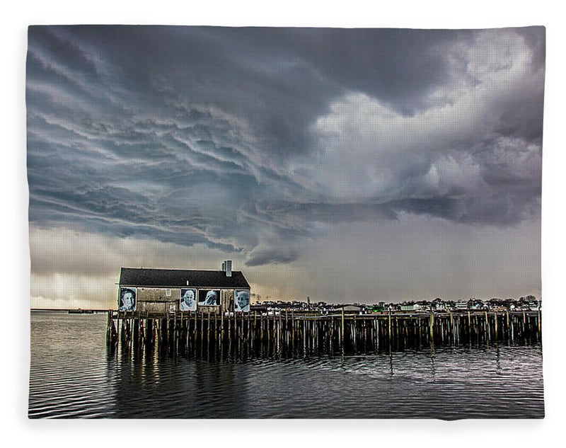 Provincetown Storm, Cabrals Wharf - Blanket