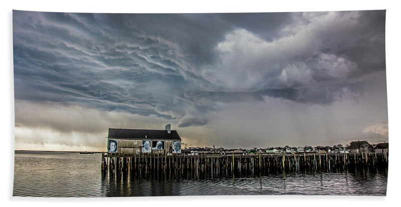 Provincetown Storm, Cabrals Wharf - Beach Towel