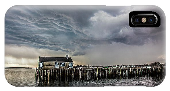 Provincetown Storm, Cabrals Wharf - Phone Case