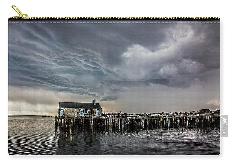 Provincetown Storm, Cabrals Wharf - Carry-All Pouch