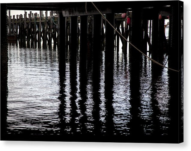 Provincetown Wharf Reflections - Canvas Print