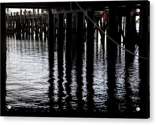 Provincetown Wharf Reflections - Acrylic Print