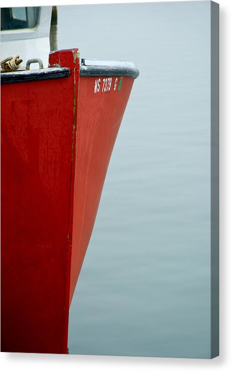 Red Fishing Boat - Canvas Print