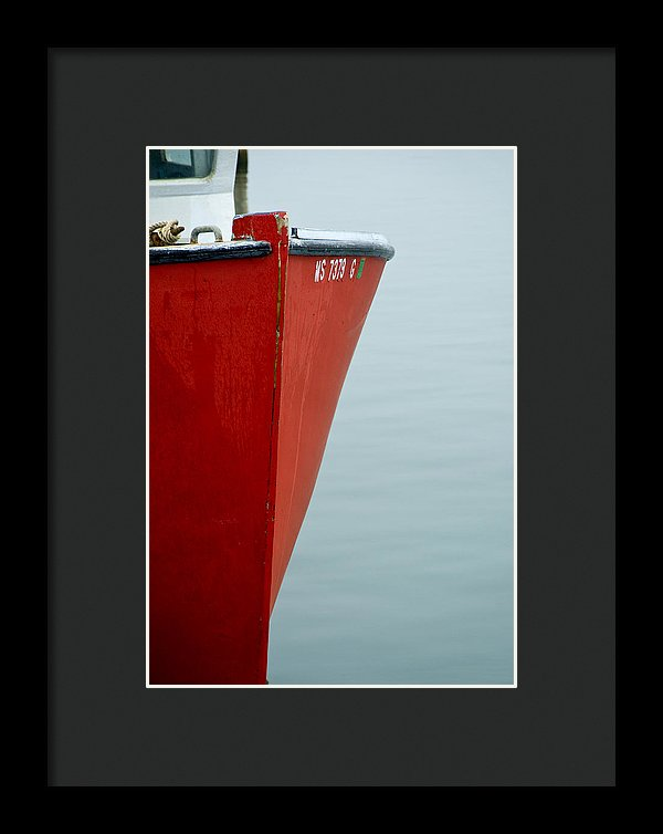 Red Fishing Boat - Framed Print