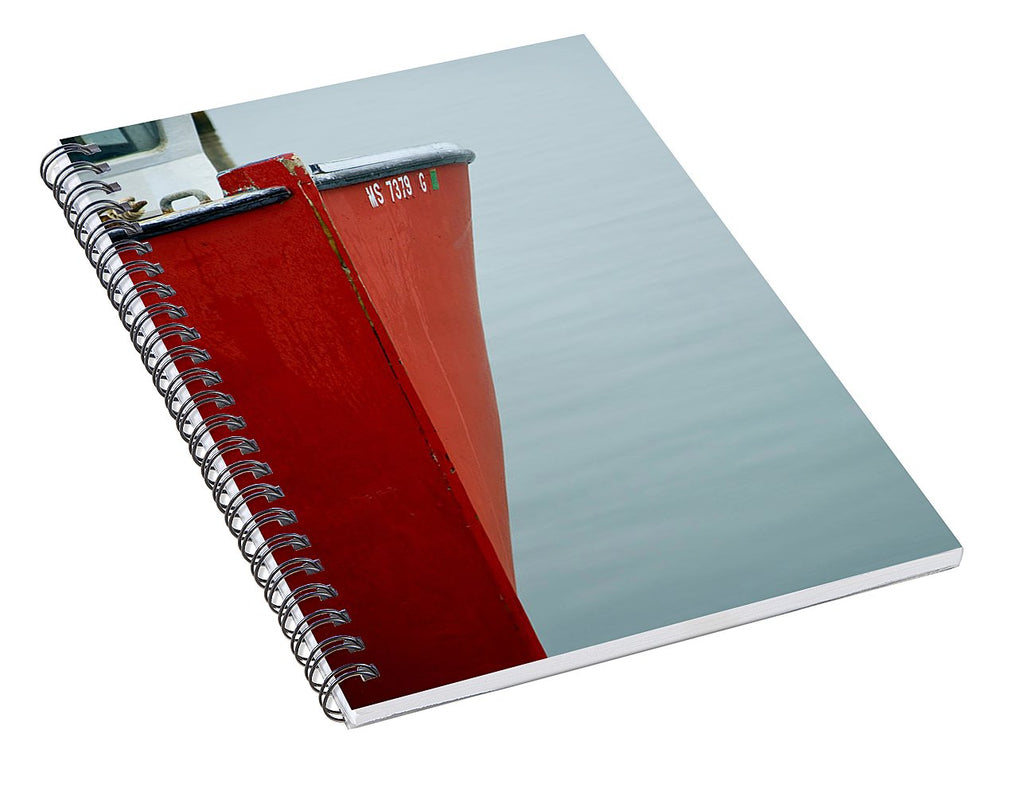 Red Fishing Boat - Spiral Notebook