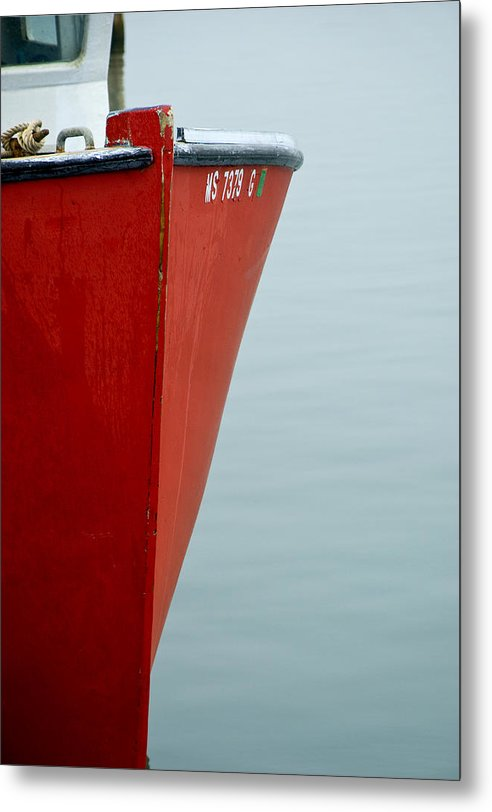 Red Fishing Boat - Metal Print