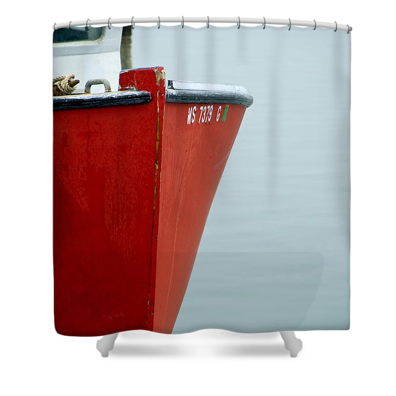 Red Fishing Boat - Shower Curtain