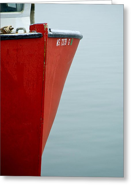 Red Fishing Boat - Greeting Card