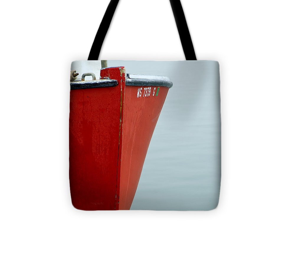 Red Fishing Boat - Tote Bag