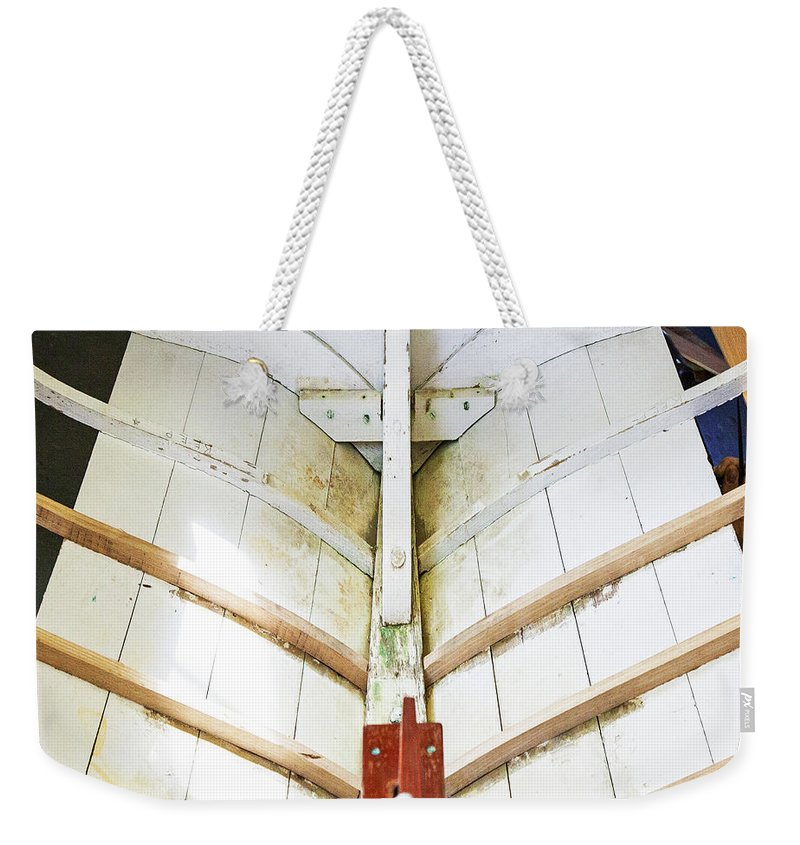 Wooden Sailboat Boat Restoration - Weekender Tote Bag