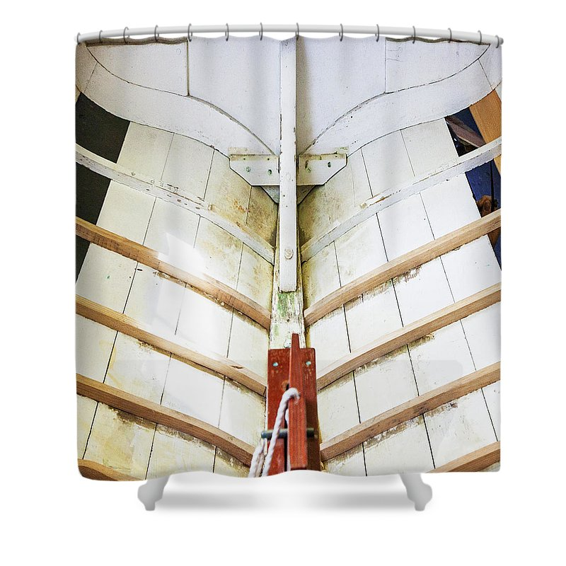 Wooden Sailboat Boat Restoration - Shower Curtain