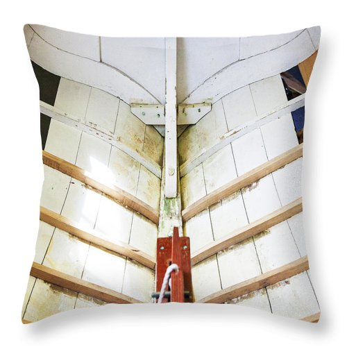 Wooden Sailboat Boat Restoration - Throw Pillow