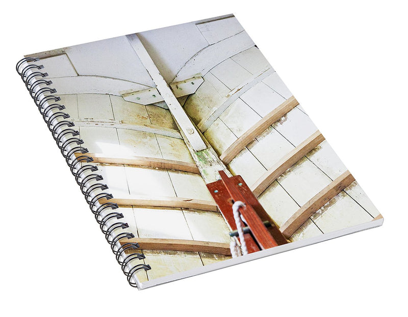 Wooden Sailboat Boat Restoration - Spiral Notebook
