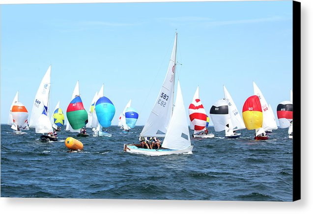 Rhodes Nationals Sailing Race Dennis Cape Cod - Canvas Print