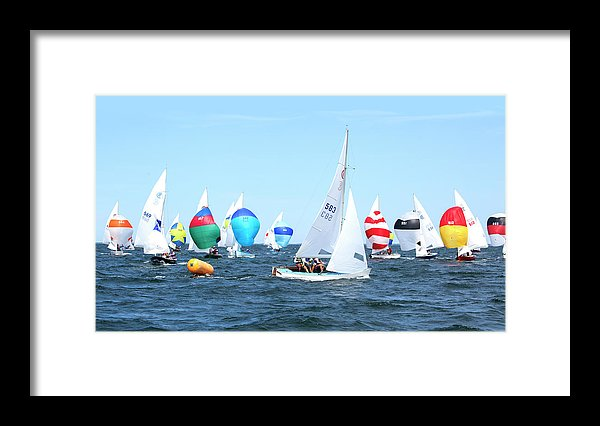 Rhodes Nationals Sailing Race Dennis Cape Cod - Framed Print