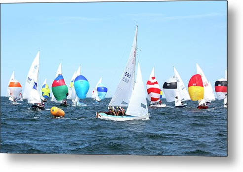 Rhodes Nationals Sailing Race Dennis Cape Cod - Metal Print