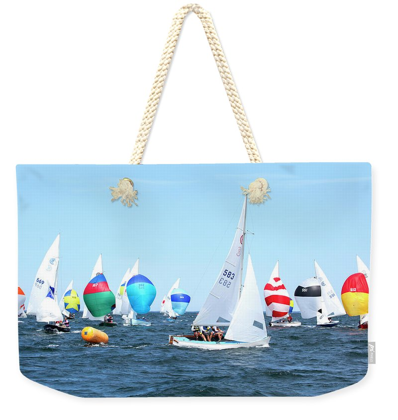 Rhodes Nationals Sailing Race Dennis Cape Cod - Weekender Tote Bag