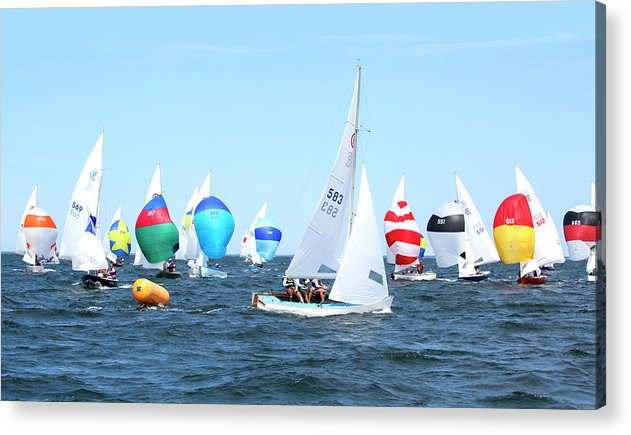 Rhodes Nationals Sailing Race Dennis Cape Cod - Acrylic Print