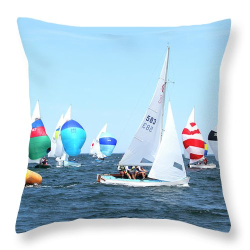 Rhodes Nationals Sailing Race Dennis Cape Cod - Throw Pillow