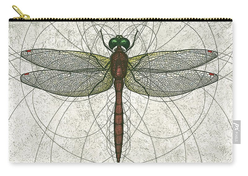 Ruby Meadowhawk Dragonfly - Carry-All Pouch