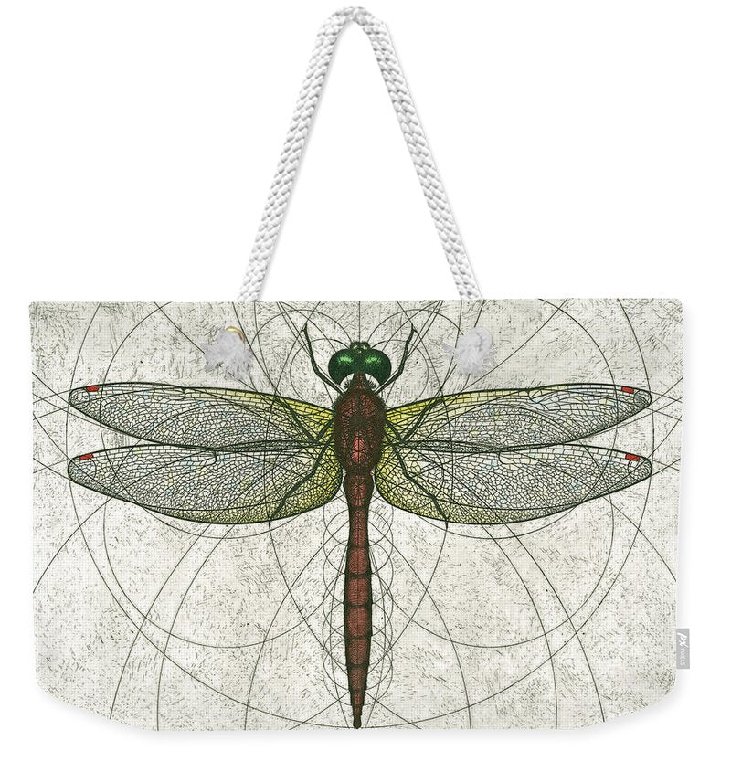Ruby Meadowhawk Dragonfly - Weekender Tote Bag