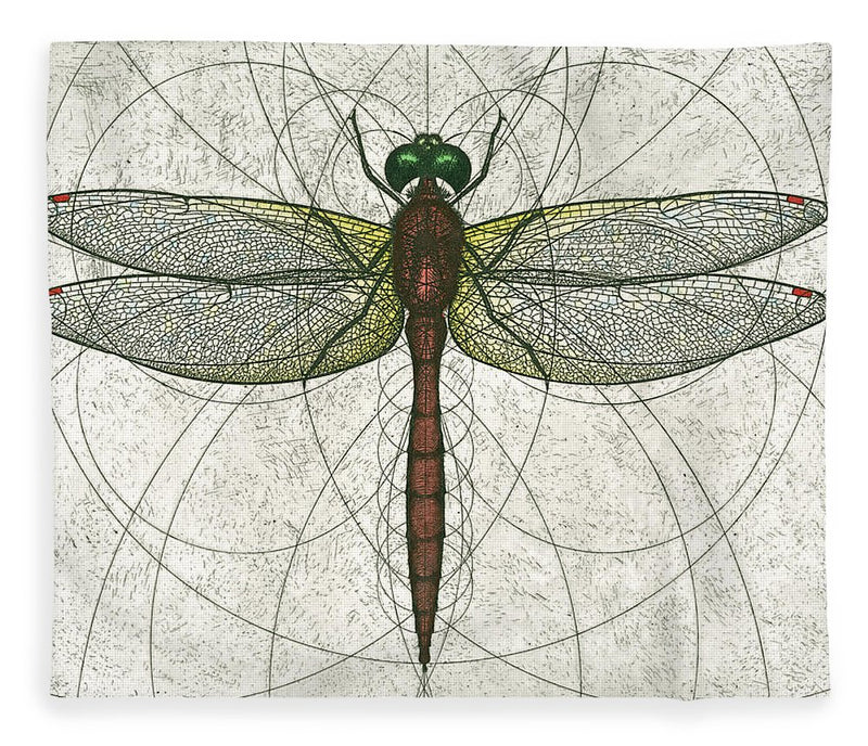 Ruby Meadowhawk Dragonfly - Blanket