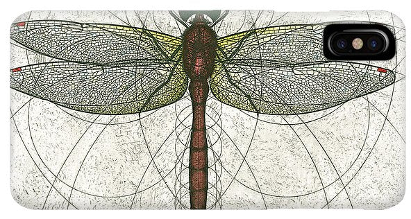 Ruby Meadowhawk Dragonfly - Phone Case