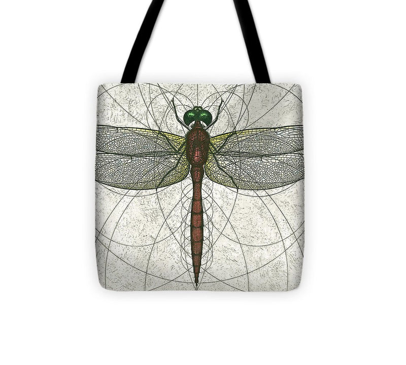 Ruby Meadowhawk Dragonfly - Tote Bag
