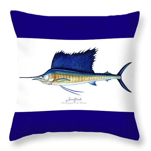 Sailfish - Throw Pillow
