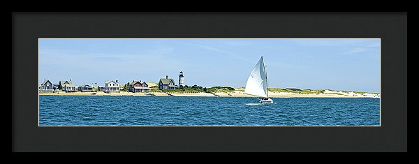 Sailing Around Barnstable Harbor - Framed Print