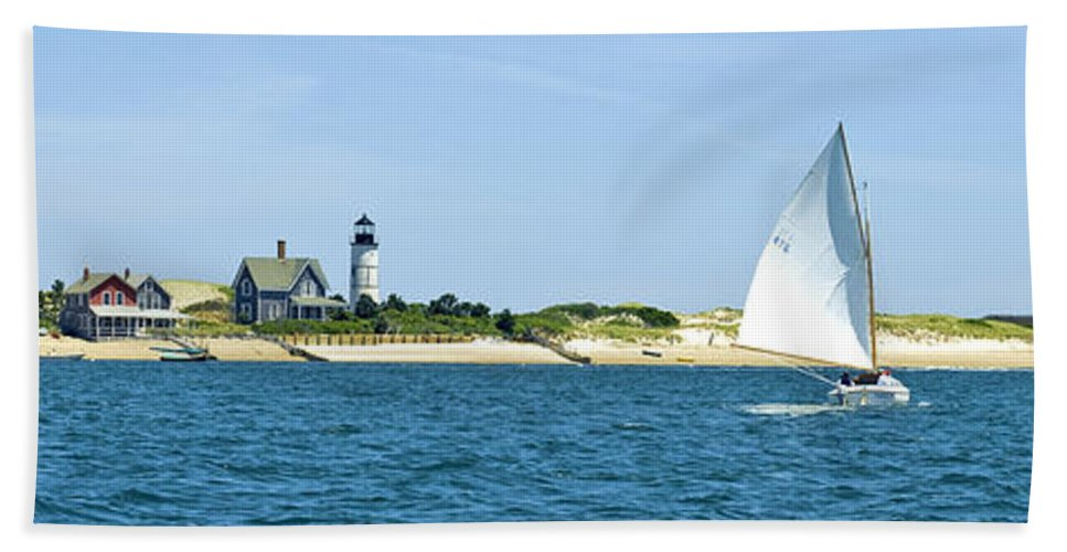 Sailing Around Barnstable Harbor - Bath Towel