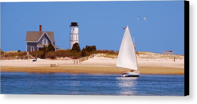 Sailing Around Sandy Neck Lighthouse - Canvas Print
