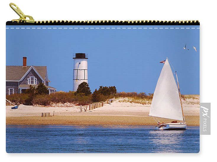 Sailing Around Sandy Neck Lighthouse - Carry-All Pouch