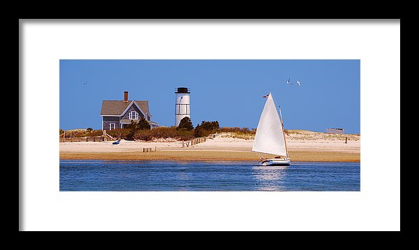 Sailing Around Sandy Neck Lighthouse - Framed Print