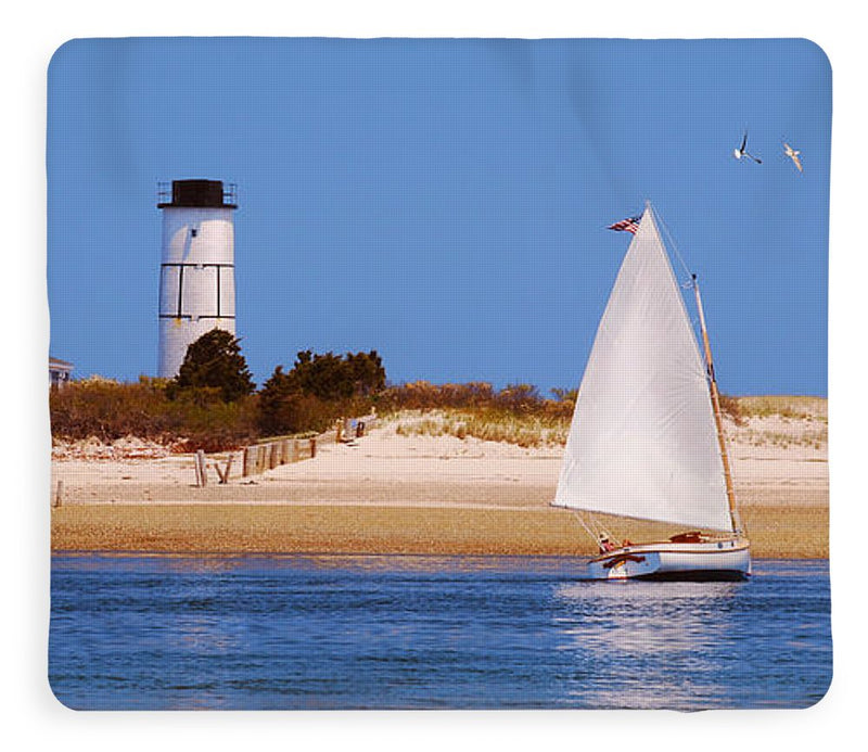 Sailing Around Sandy Neck Lighthouse - Blanket