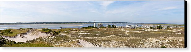 Sandy Neck Lighthouse With Fishing Boat - Canvas Print