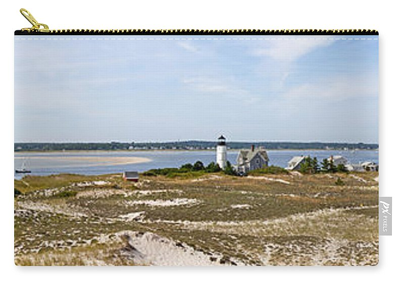 Sandy Neck Lighthouse With Fishing Boat - Carry-All Pouch